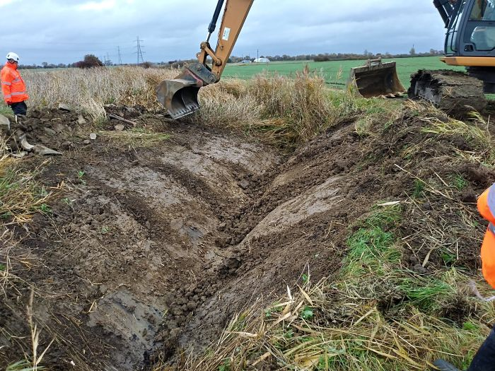 Ditch works underway